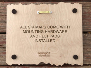 Snowshoe Ski Decor Trail Map Art - MountainCut