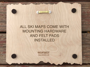 Jack Frost Ski Decor Trail Map Art - MountainCut