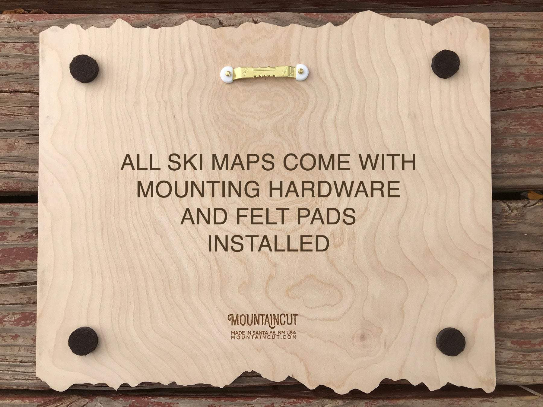 Ragged Mountain Ski Decor Trail Map Art - MountainCut