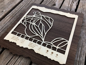 Eaglecrest Ski Decor Trail Map Art - MountainCut