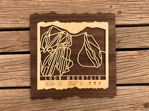 Loon Mountain Ski Decor Trail Map Art - MountainCut