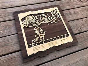 Deer Valley Ski Decor Trail Map Art - MountainCut