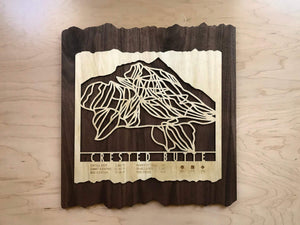 Crested Butte Ski Decor Trail Map Art - MountainCut