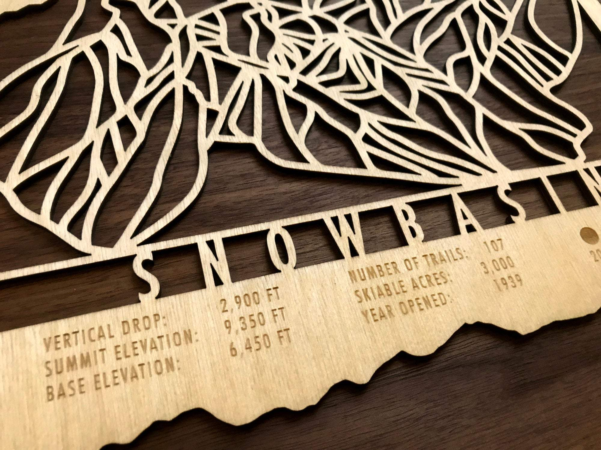 Snowbasin Ski Decor Trail Map Art - MountainCut