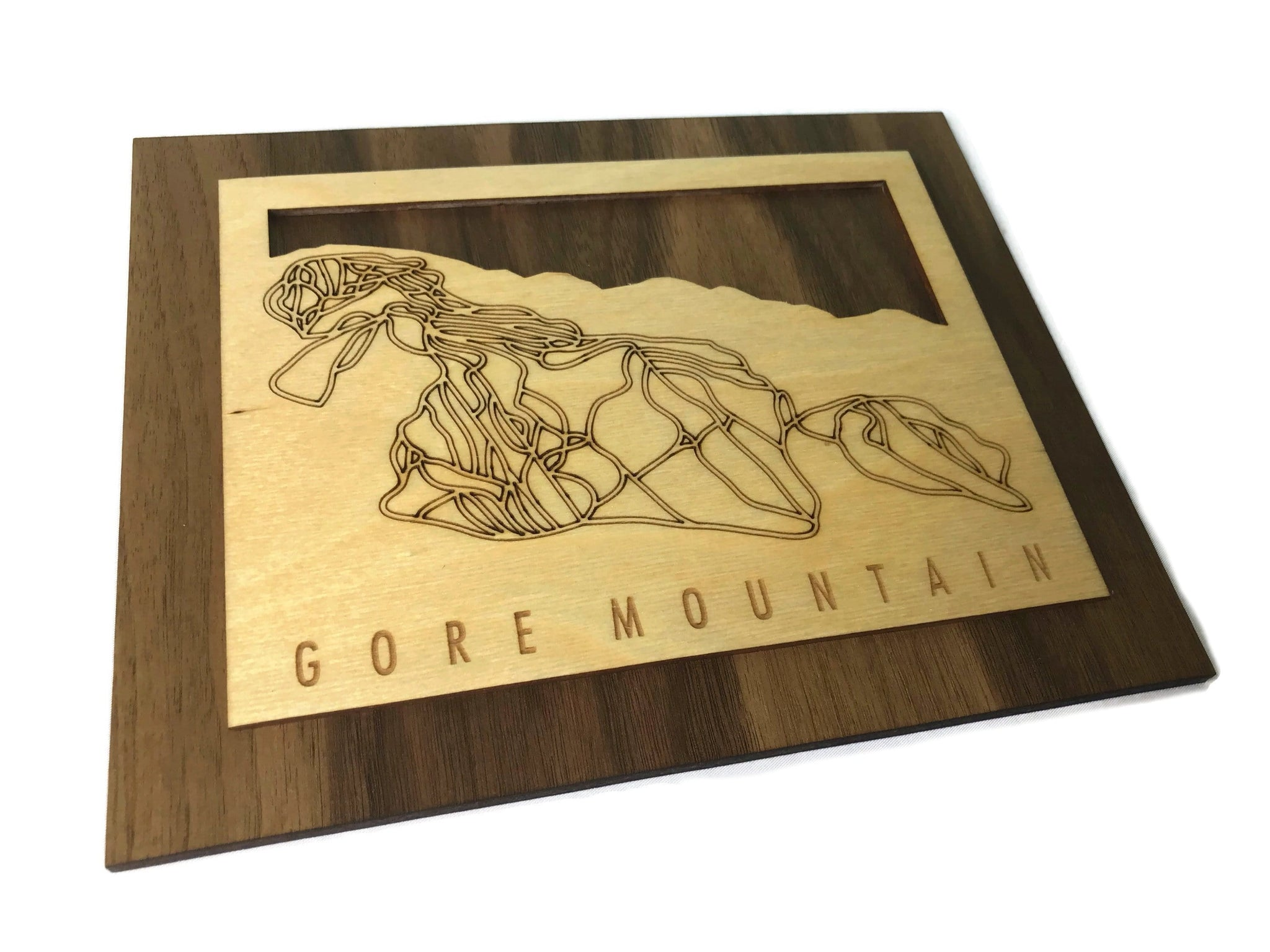 Gore Mountain Small Ski Decor Trail Map Art - MountainCut