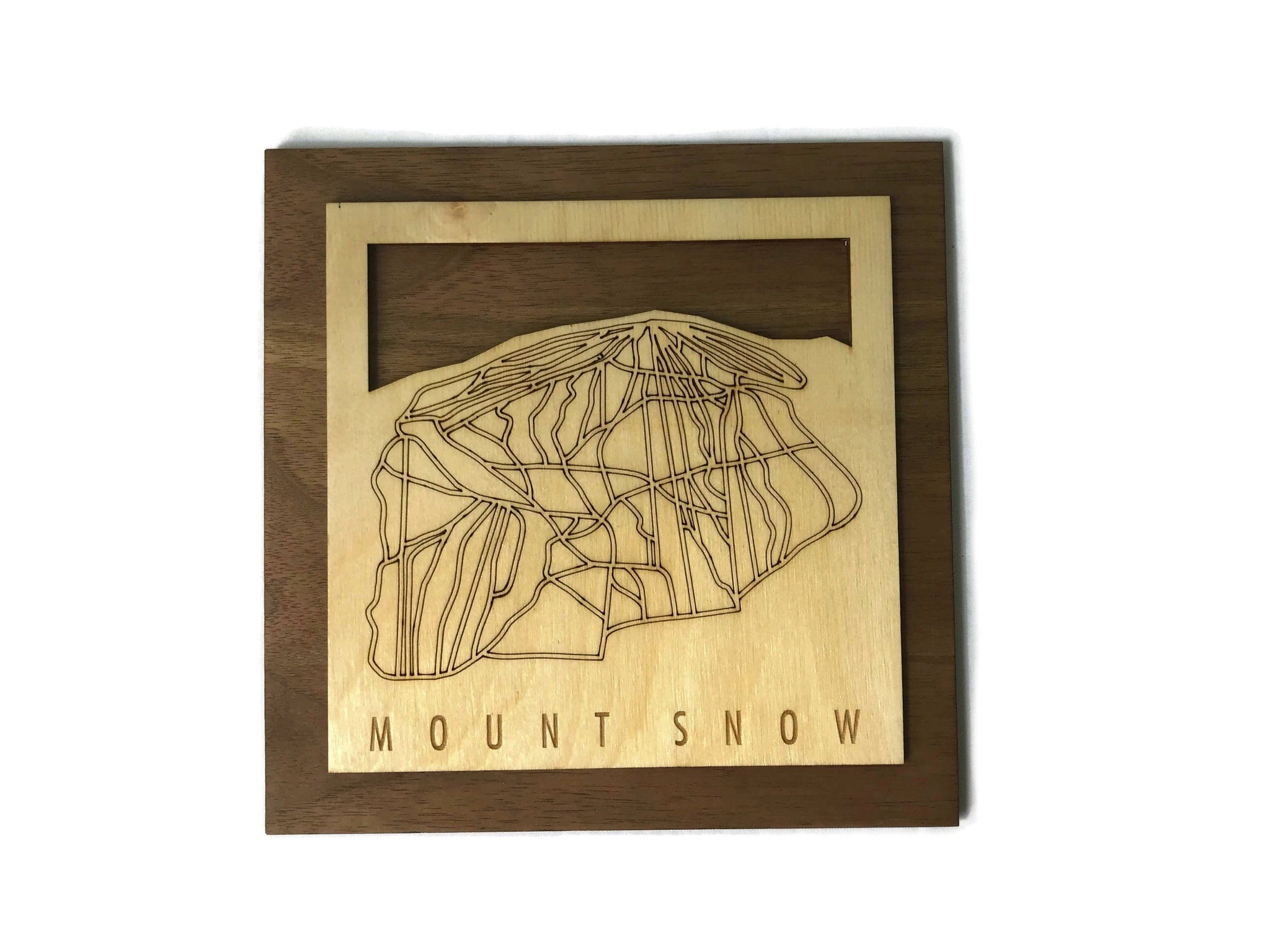 Mount Snow Small Ski Decor Trail Map Art - MountainCut