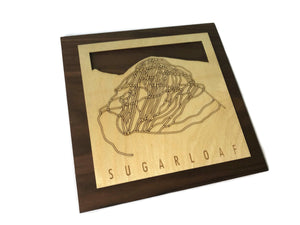 Sugarloaf Small Ski Decor Trail Map Art - MountainCut
