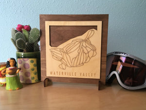 Waterville Valley Small Ski Decor Trail Map Art - MountainCut