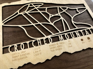Crotched Mountain Ski Decor Trail Map Art - MountainCut