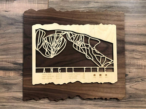 Angel Fire Ski Decor Trail Map Art - MountainCut