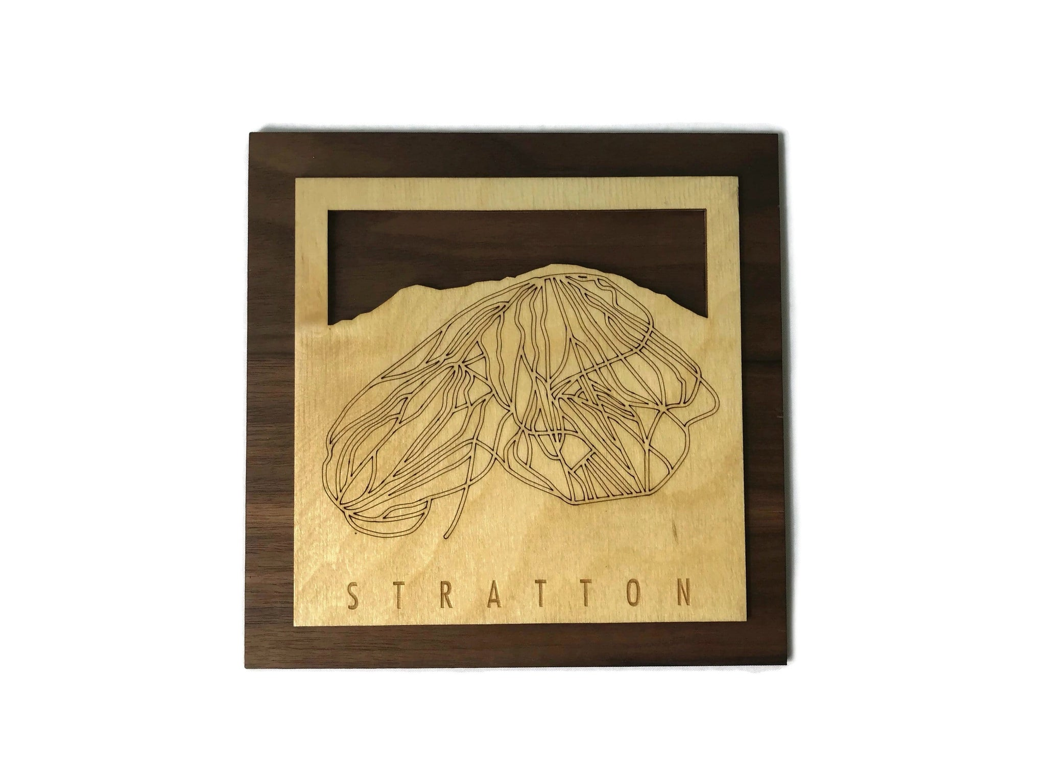 Stratton Small Ski Decor Trail Map Art - MountainCut