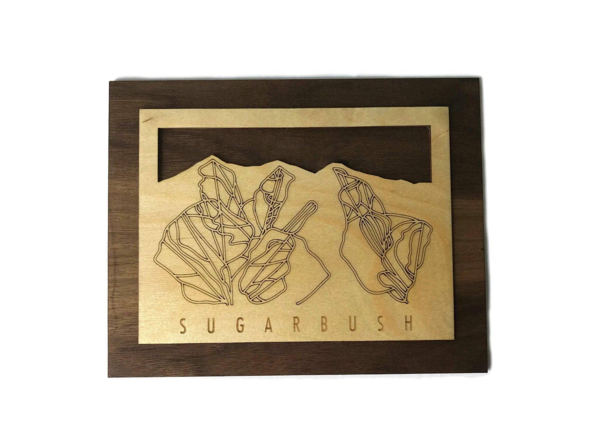 Sugarbush Small Ski Decor Trail Map Art - MountainCut