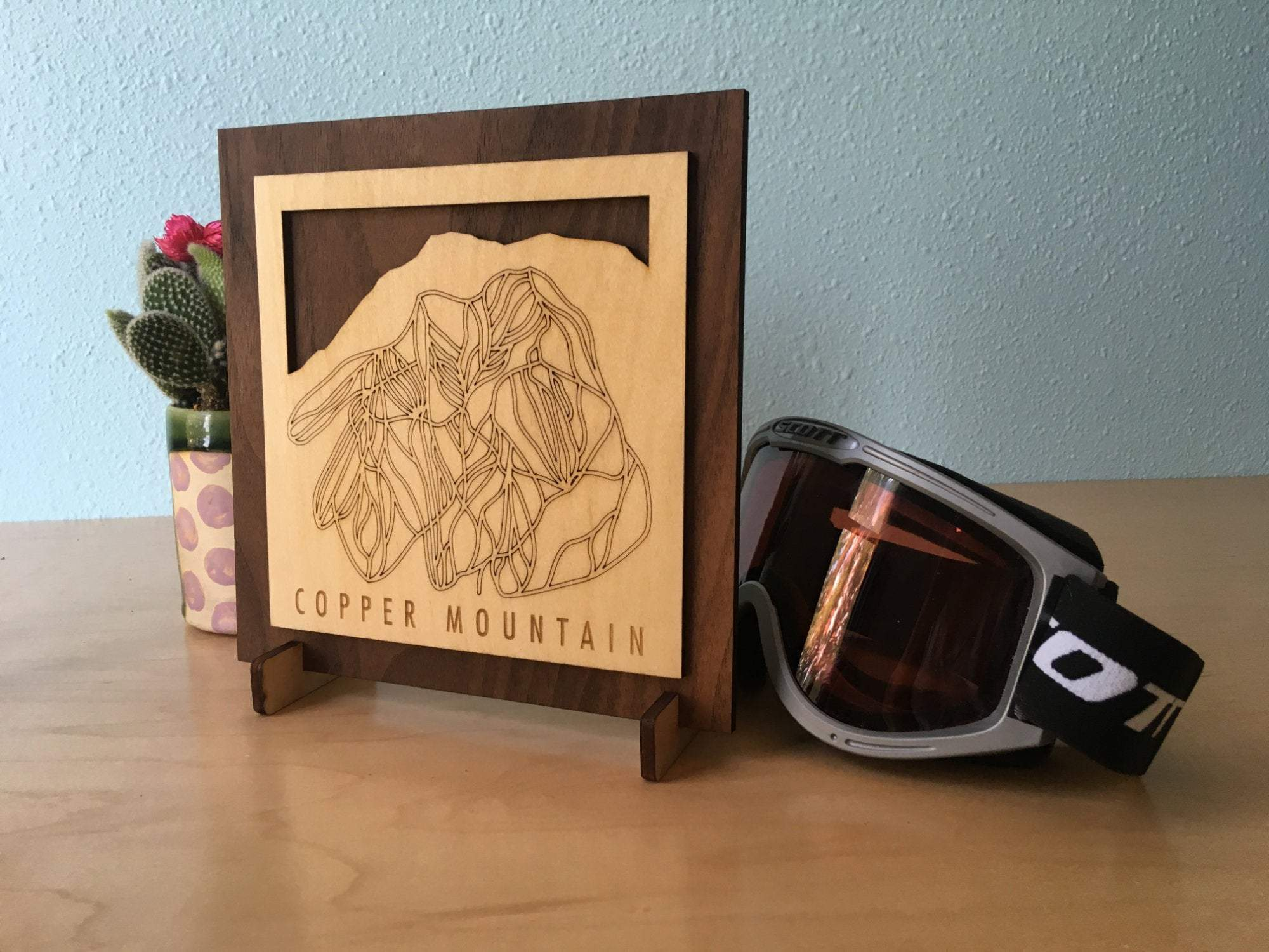 Copper Mountain Small Ski Decor Trail Map Art - MountainCut