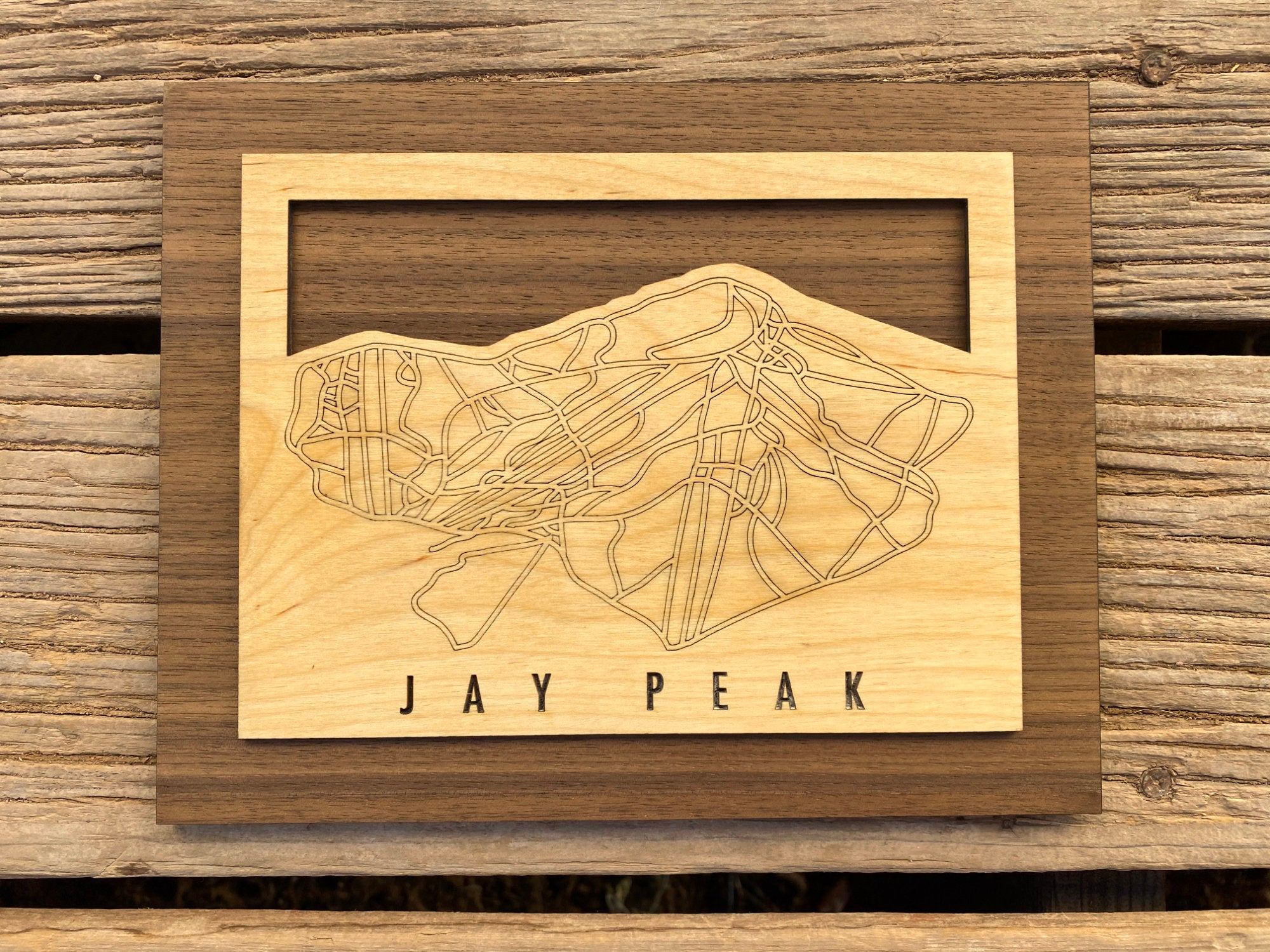 Jay Peak Small Ski Decor Trail Map Art