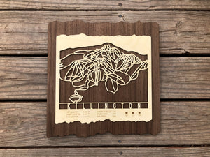 Killington Ski Decor Trail Map Art - MountainCut