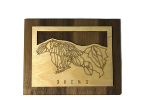 Okemo Mountain Small Ski Decor Trail Map Art