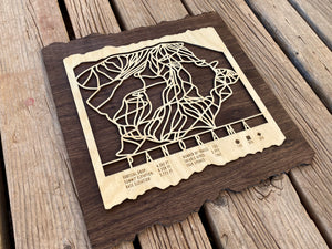 Panorama Ski Decor Trail Map Art
