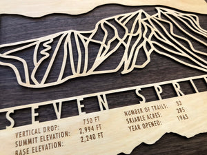 Seven Springs Ski Decor Trail Map Art - MountainCut