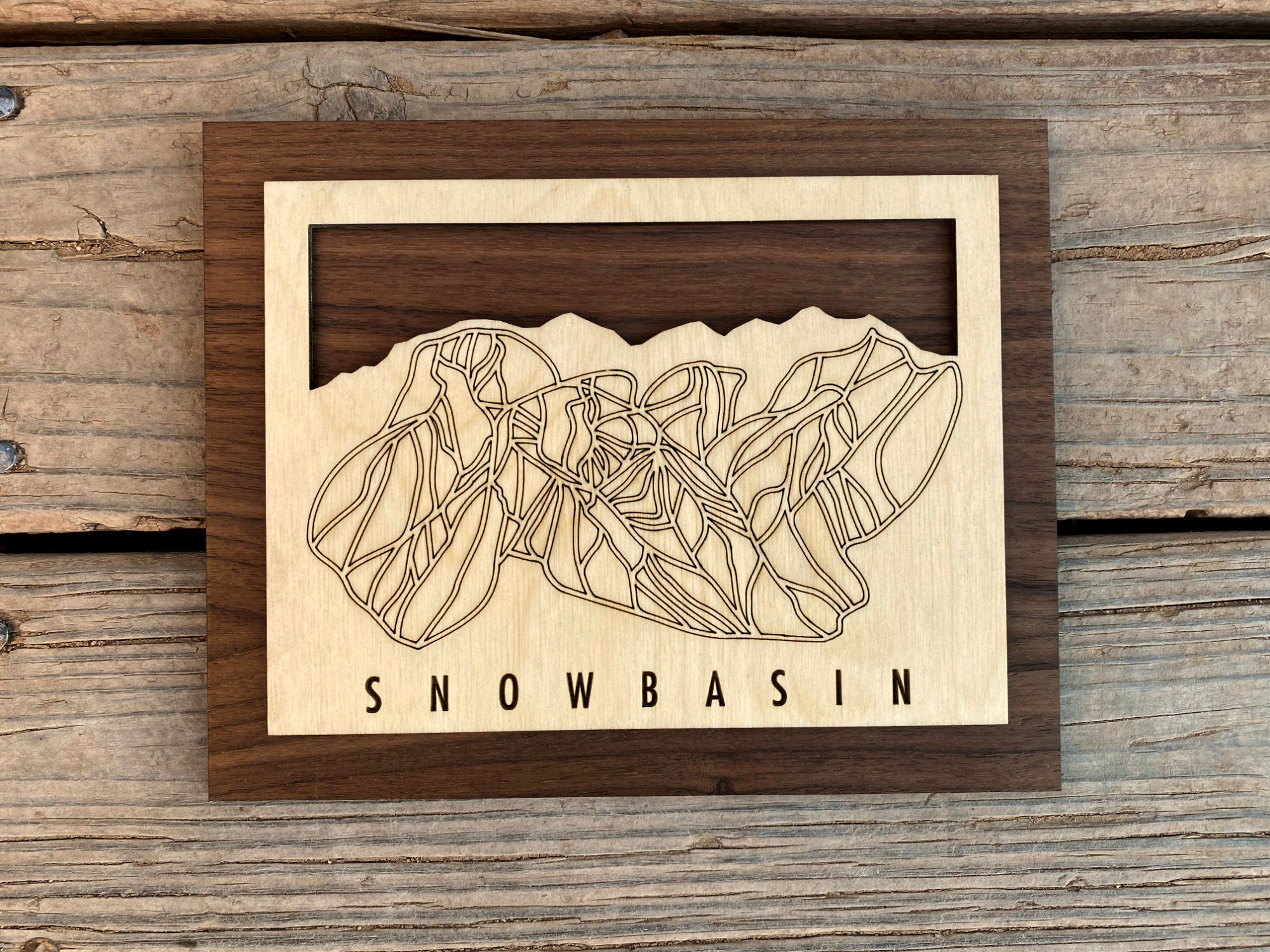 Snowbasin Small Ski Decor Trail Map Art