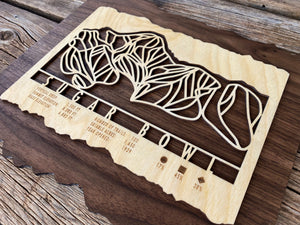 Sugar Bowl Ski Decor Trail Map Art - MountainCut