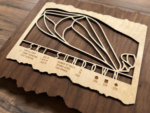 Ski Sundown Ski Decor Trail Map Art