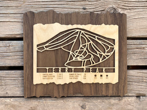 Terry Peak Ski Decor Trail Map Art