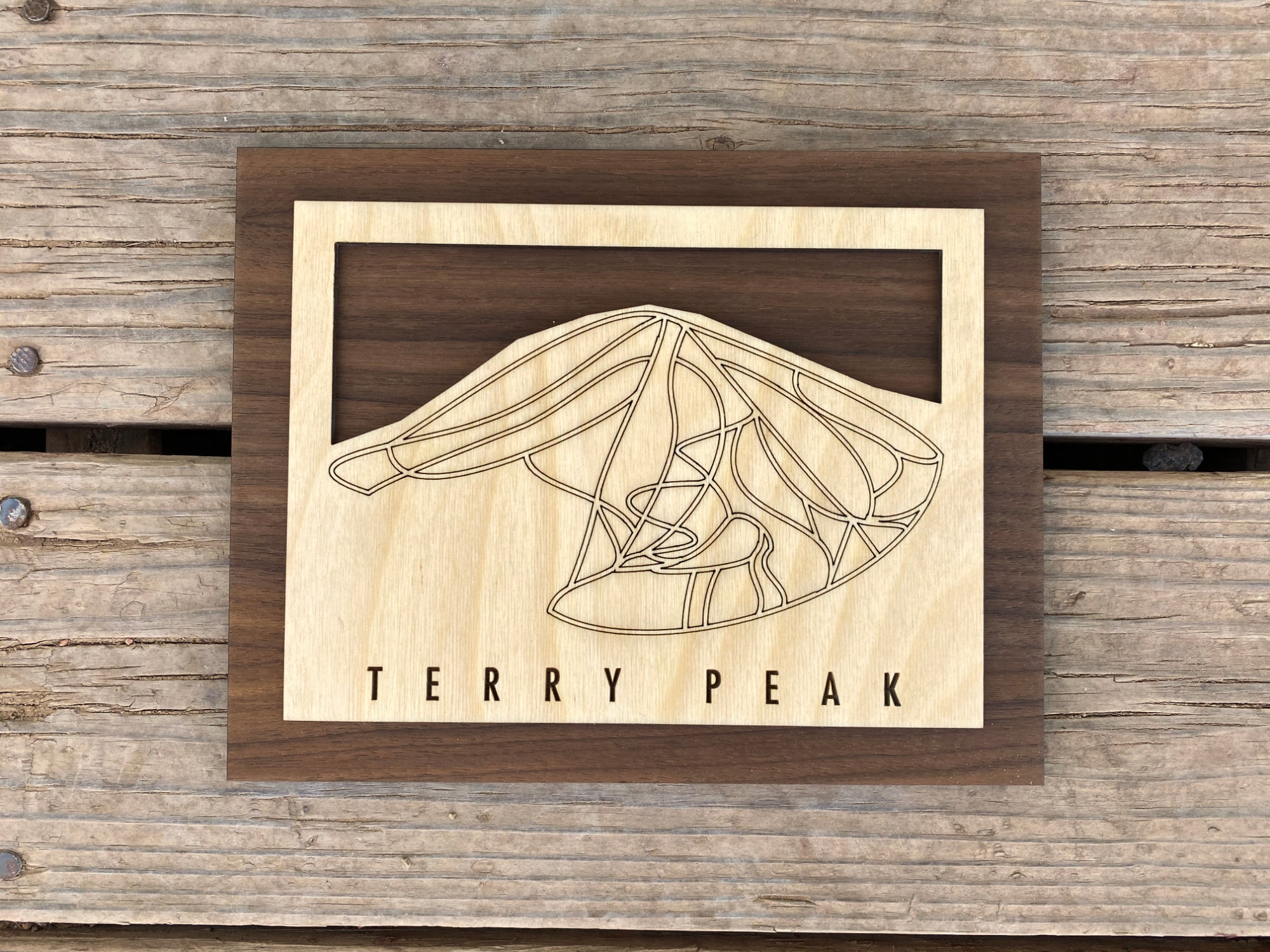 Terry Peak Small Ski Decor Trail Map Art