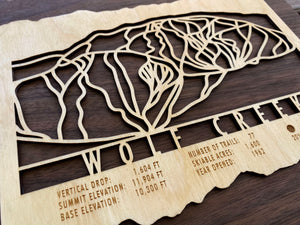 Wolf Creek Ski Decor Trail Map Art - MountainCut