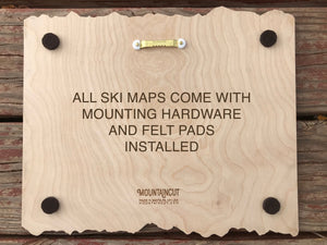 Bear Creek Ski Decor Trail Map Art - MountainCut