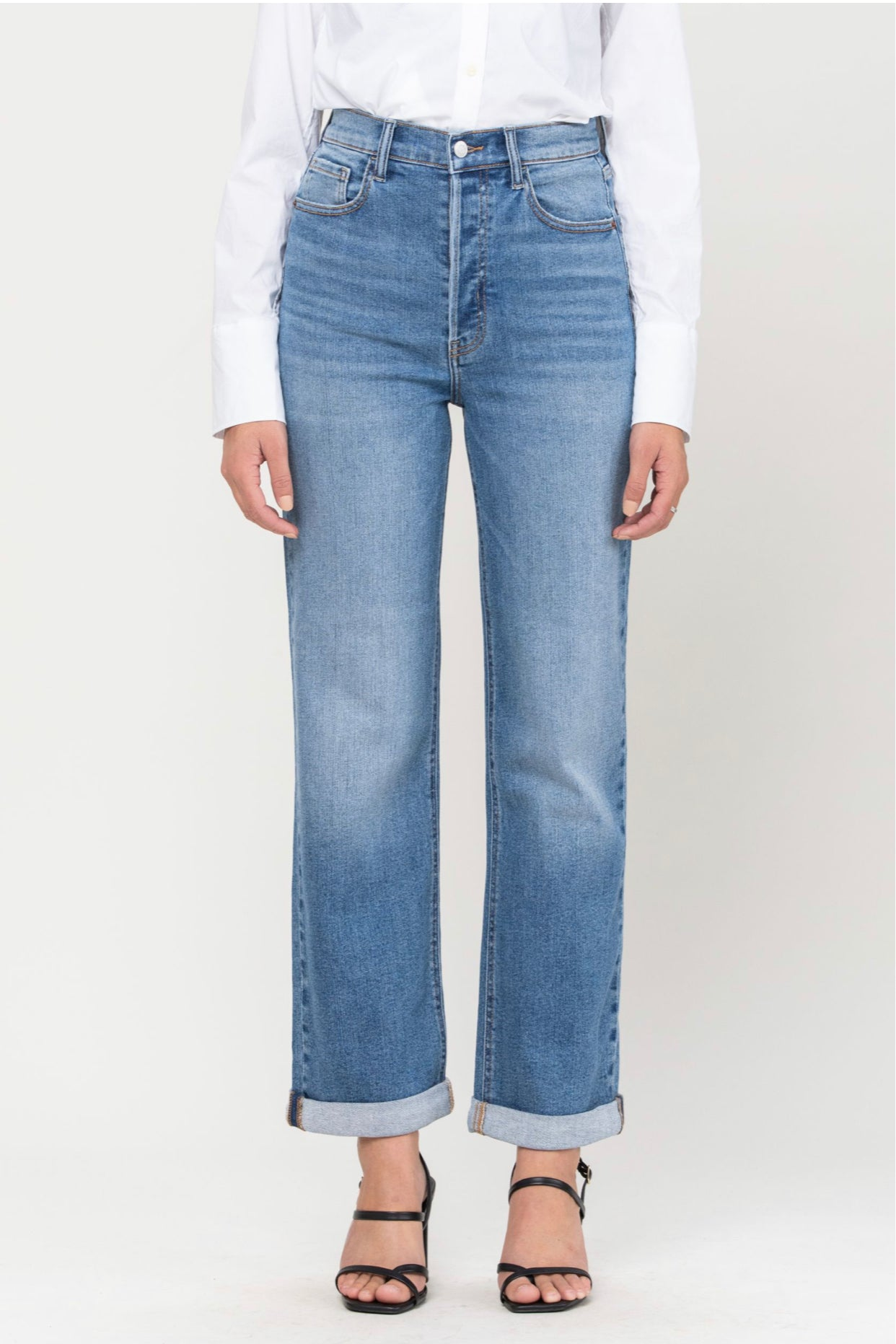 High Rise Rolled Jean
