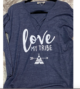 Blue Long Sleeve Love My Tribe