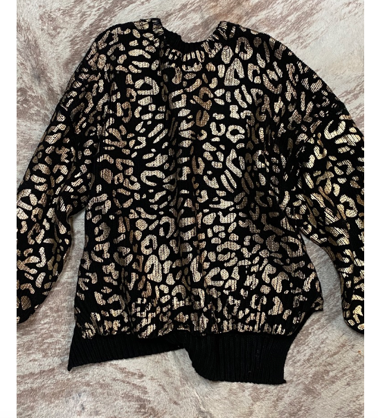 Gold Cheetah Sweater