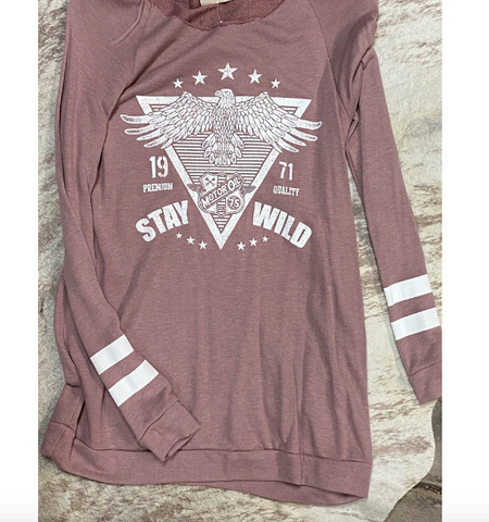 Stay Wild Blush Long Sleeve