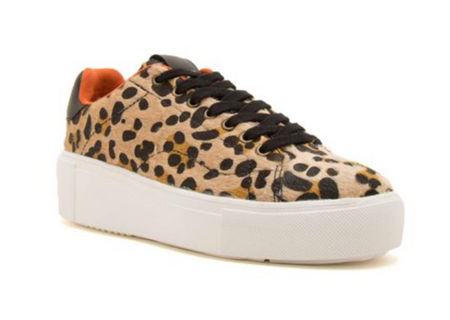 Maxine Hair-on Cheetah Sneakers