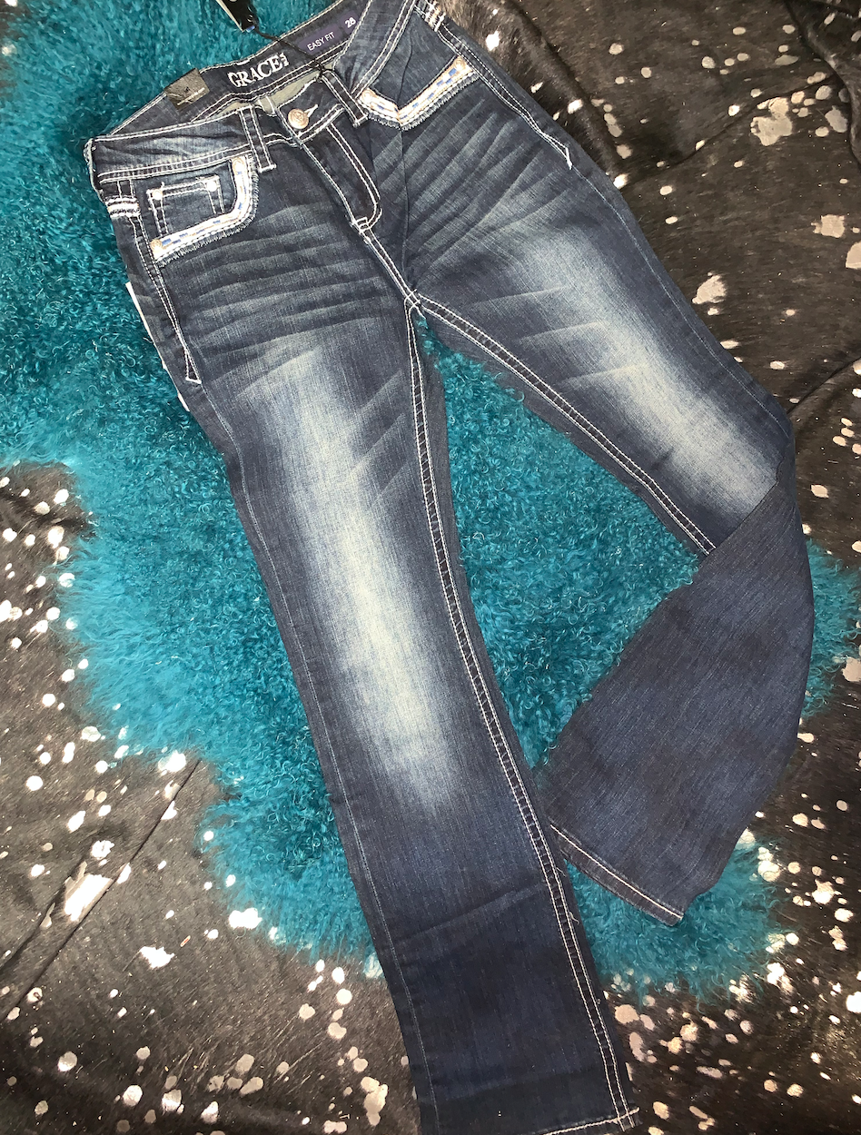 Blinged Bootcut Jeans