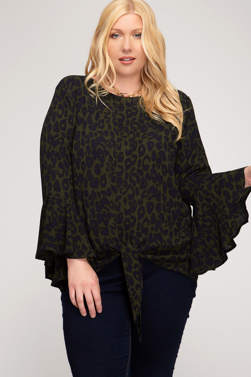 Envy Green Leopard Top