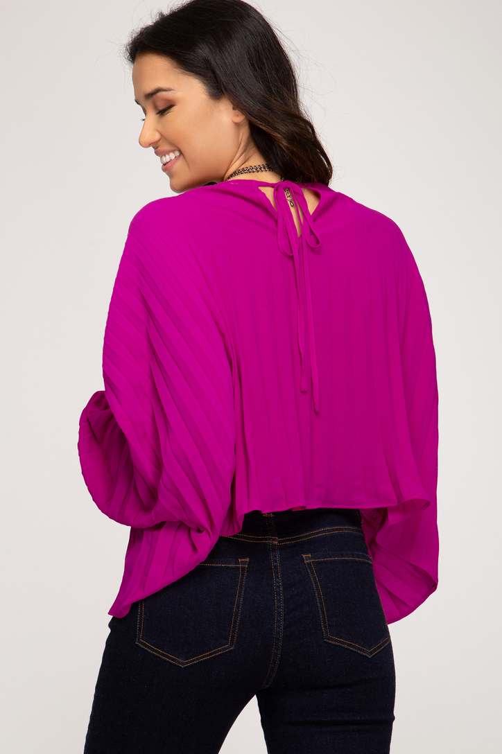Batwing Pleated Top