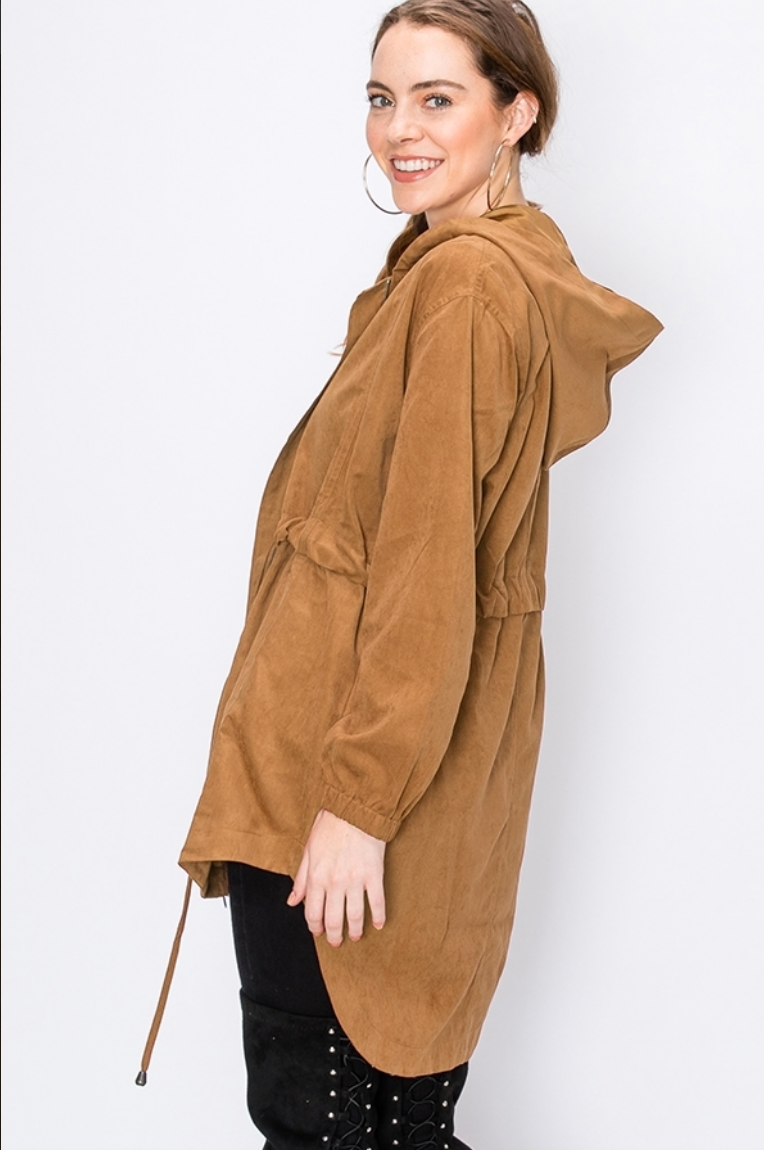 Camel High-Low Jacket