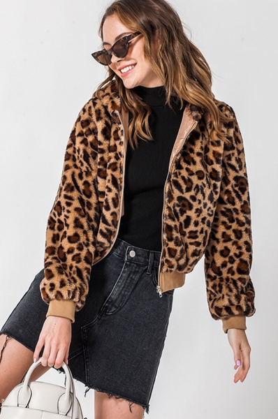 Leopard Hooded Jacket