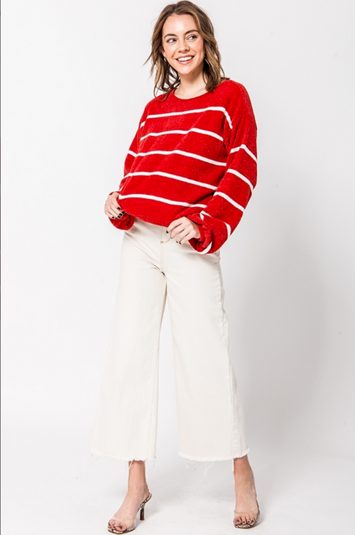 Red Chenille Sweater
