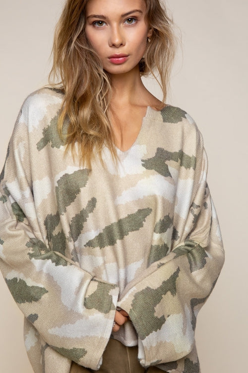 Cover me in Camo Sweater