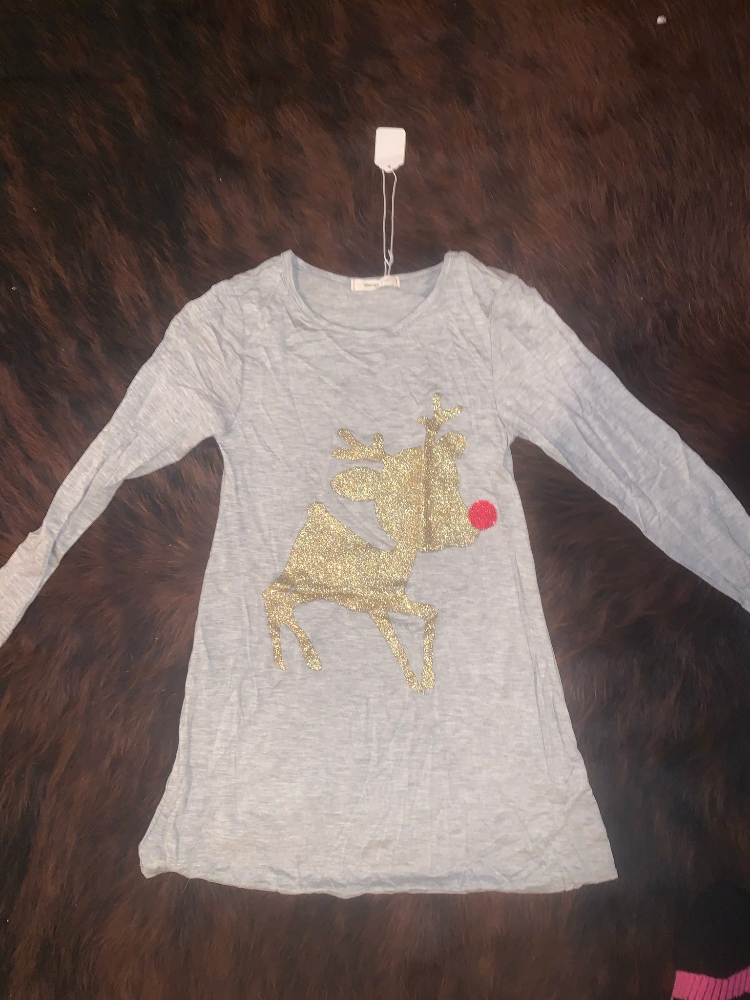 Little Girl's Rudolph tunic