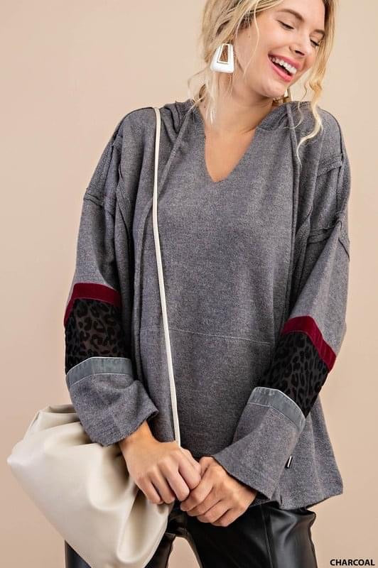 Velvet Burnout Sweatshirt (1X)