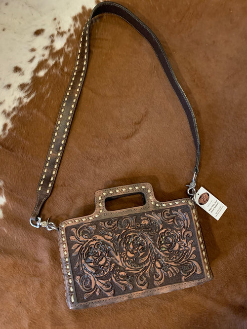 #6 Briefcase Tooled Bag