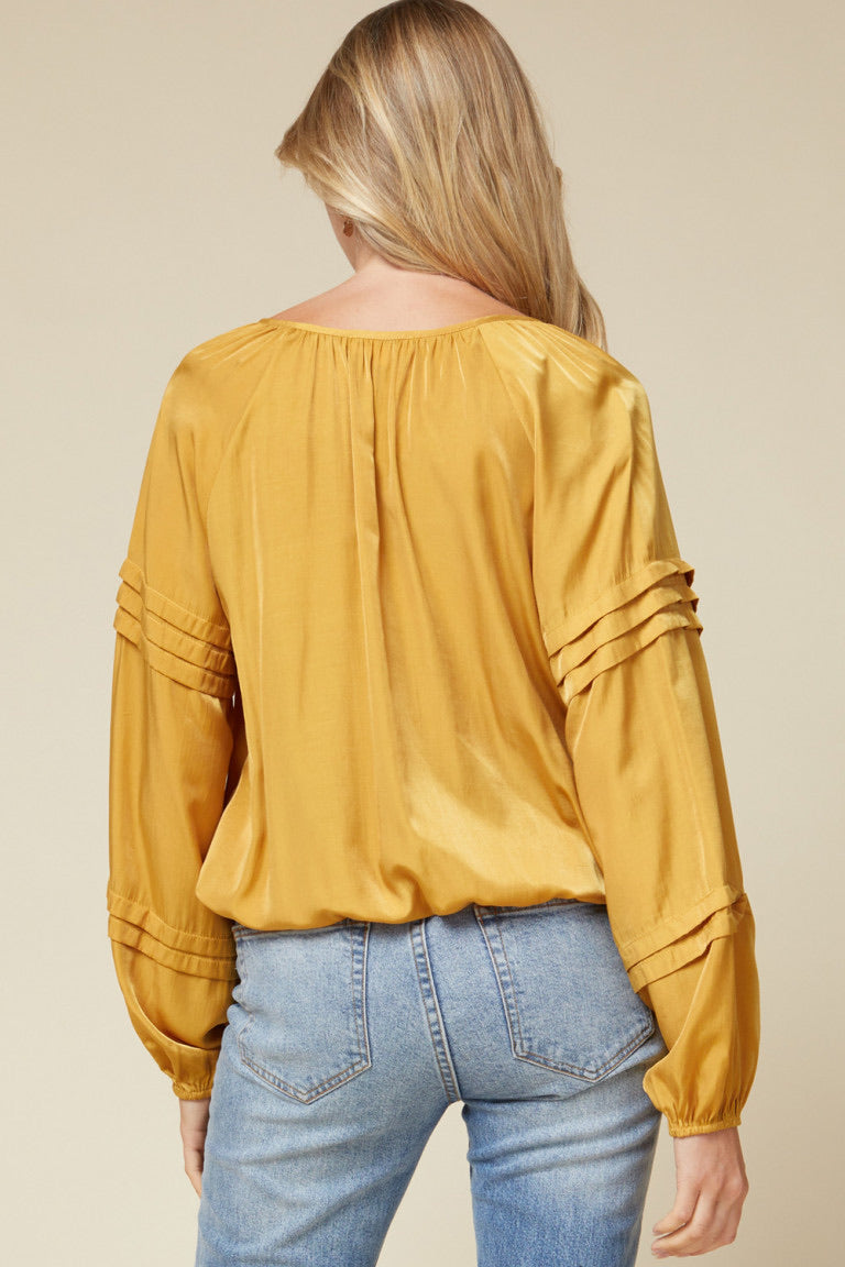 Satin Mustard Shirt-Large