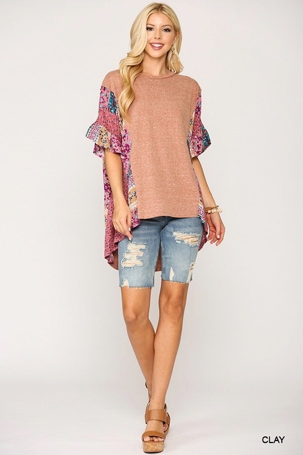 Clay Dolman Sleeve Blouse