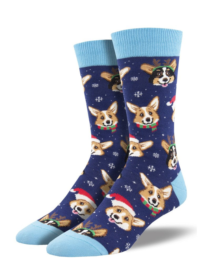 Christmas Corgi Socks