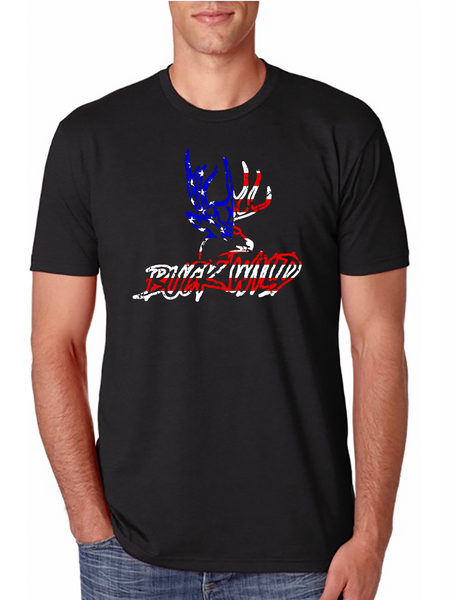 Black Buck Wild American Flag Logo - Dirty Doe & Buck Wild ,hunting apparel,camo,girls that hunt,huntress, buck wild,deer shirts,buck shirts,country shirt,country girl shirts, amazon,cabelas,bass pro shop,sportmans,
