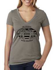 My Rights Trump Your Feelings - Dirty Doe & Buck Wild ,hunting apparel,camo,girls that hunt,huntress, buck wild,deer shirts,buck shirts,country shirt,country girl shirts, amazon,cabelas,bass pro shop,sportmans,