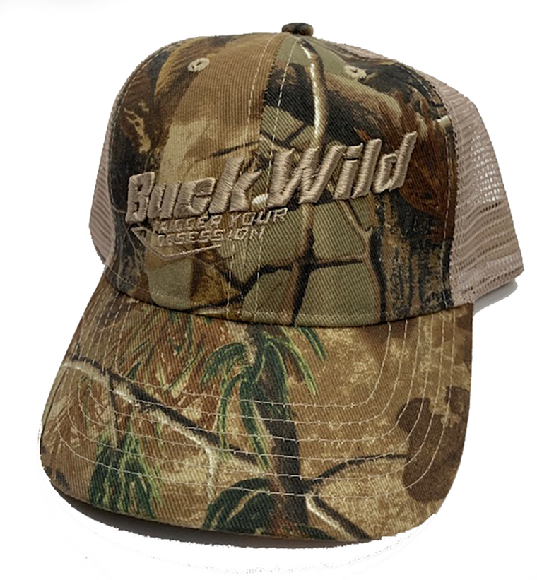 Buck Wild Camo with Tan Mesh Hat Velcro Adjustable